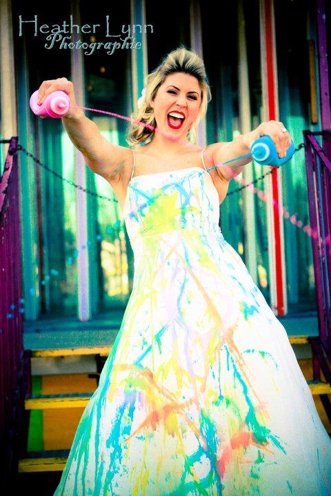 Southern California Trash The Dress San Juan Capistrano Wedding Paint 007